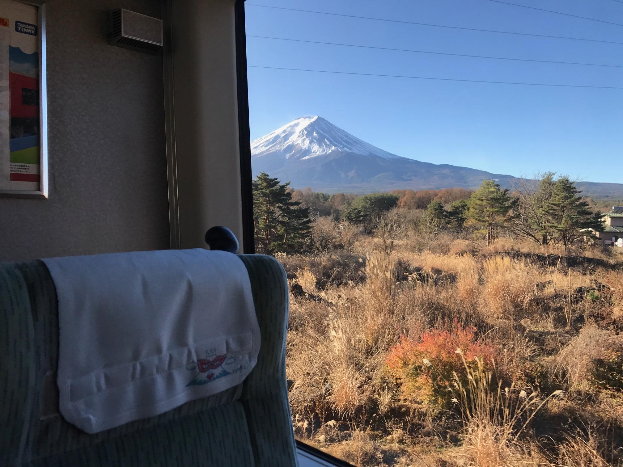 จากรถหน้าต่างของภูเขาไฟฟูจิด่วน