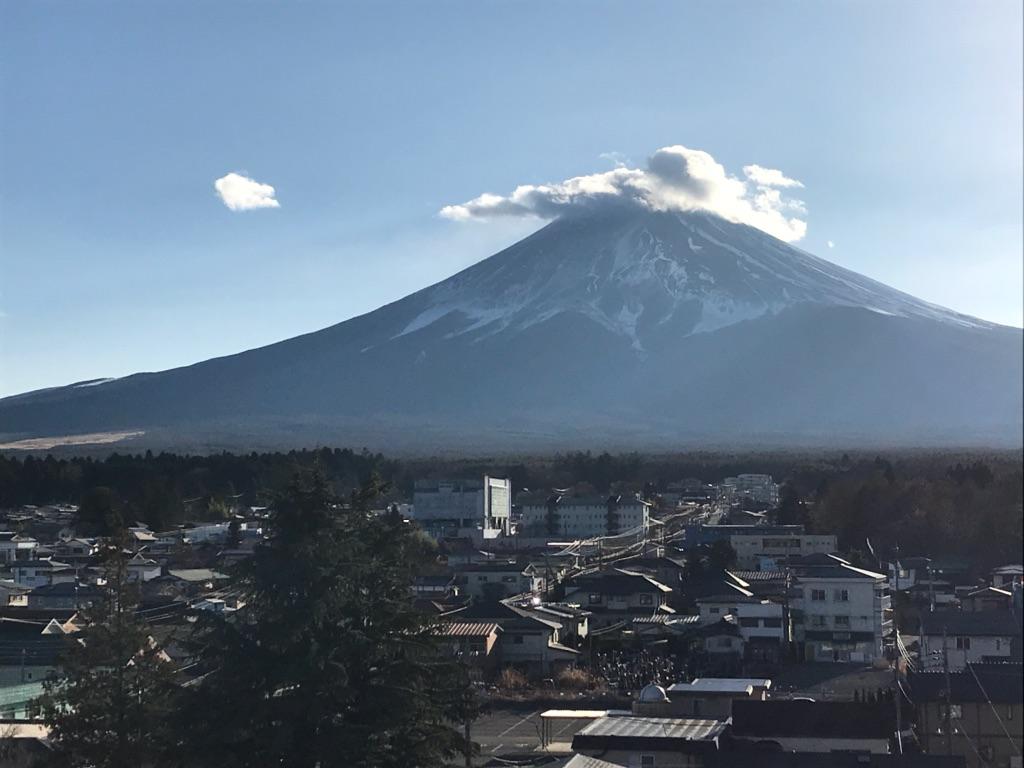 駅ビル屋上の「富士山展望デッキ」